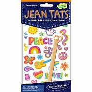 Peace n Love Jean Tats