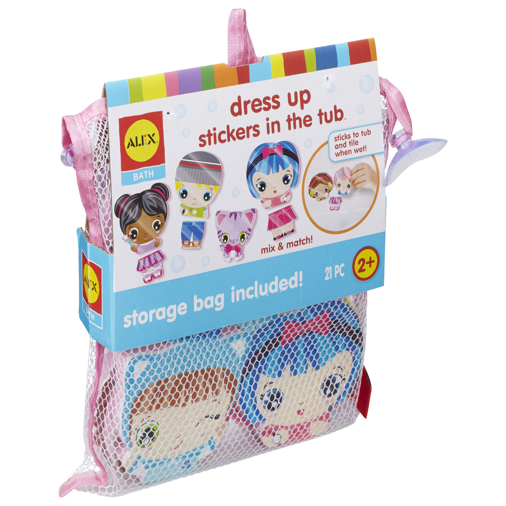 Bath Dress Up Stickers In The Tub Brains N Motion