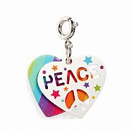 Peace Swivel Heart