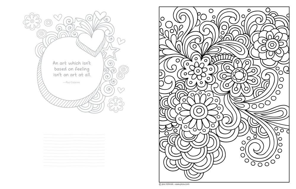 Notebook Doodles Color Swirl
